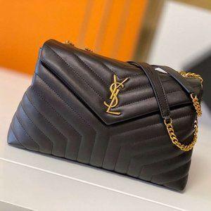 YSL LouLou Medium Black Gold Bagwallet 🌻
